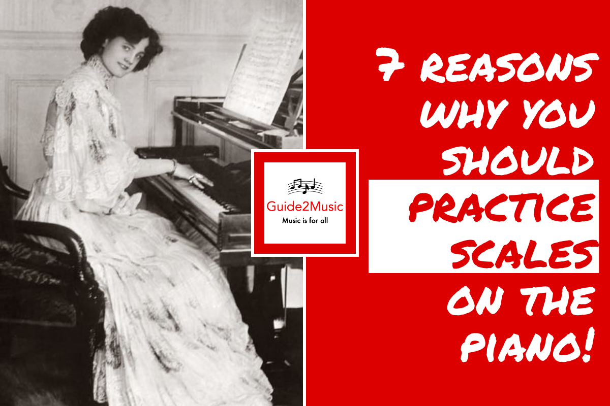 practice scales on the piano